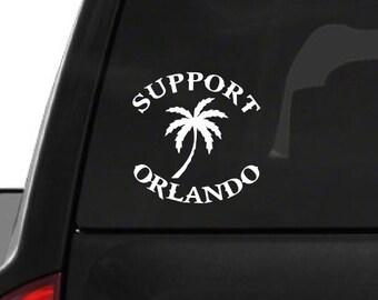 Support Orlando Palm Tree (F22) Vinyl Decal Sticker Car/Truck Laptop/Netbook Window