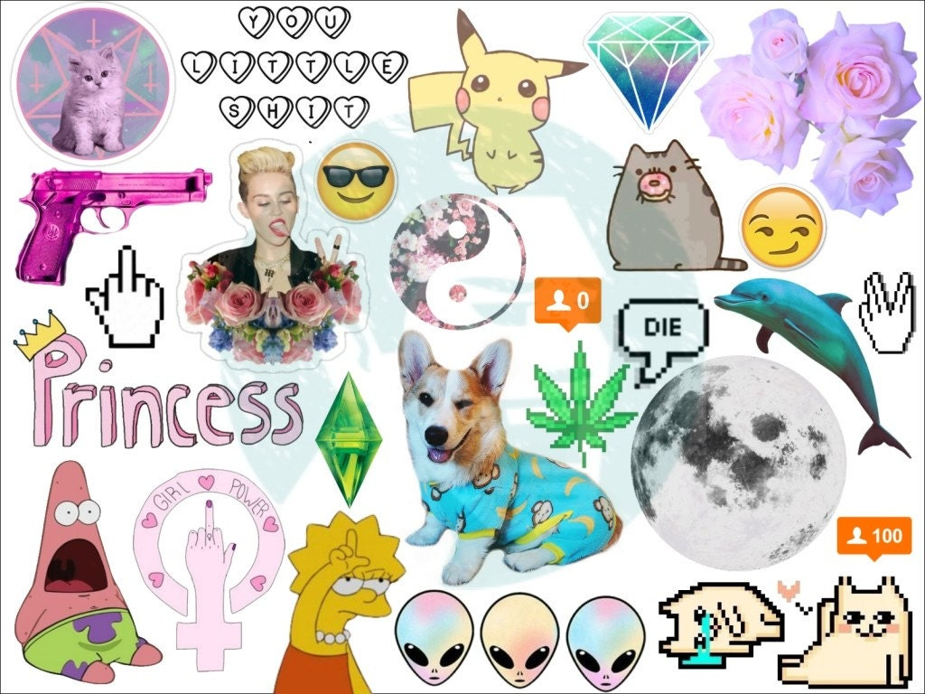 Set 203 Tumblr Stickers Stickers Set Of Stickers Decals