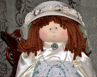 "Little Souls Doll, Little Souls Swanky, Little Souls Chelsea 24"", Gretchen Wilson, Cloth Dolls, One-Of-A-Kind, Dolly Mama, Ooak"