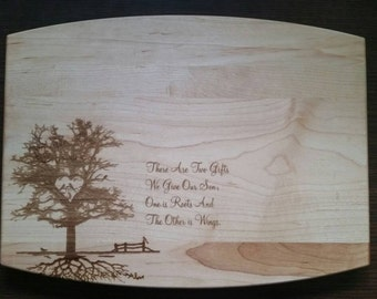 Personalized Maple Cutting Board Sons Wedding kitchen gift from parents