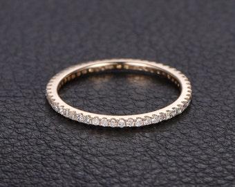 14K Gold Wedding Band Eternity Ring Anniversary Band Diamond Engagement Diamond Band Diamond Wedding Bands Women