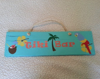 Tiki Bar Wood Sign