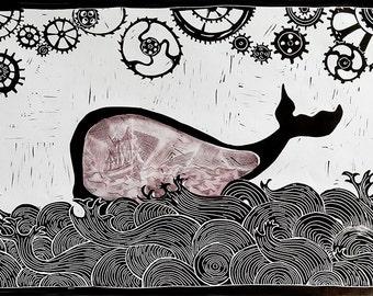 Jonah and the whale colour Bistre