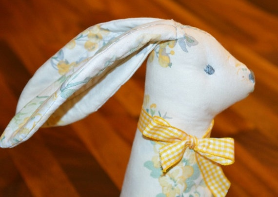 Rabbit Door Stop Embroidery Face Stuffed Rabbit From