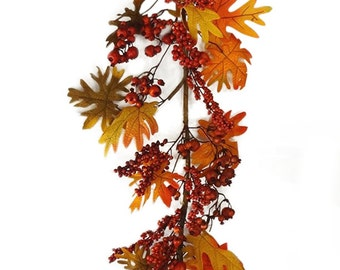 6' Fall Berry Garland