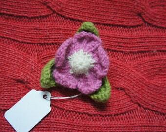Cute Knitted Flower Brooch