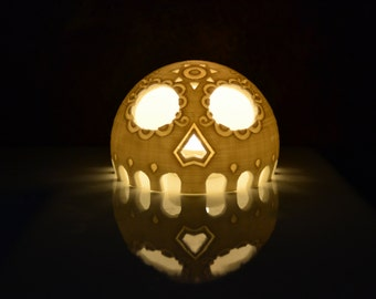Mexican day of the dead skull Lantern