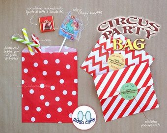 CIRCUS PARTY BAG-set 5 pieces