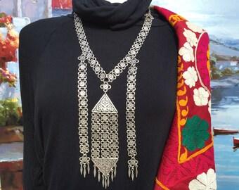 Vintage Necklace -Nomadic-Middle Eastern Jewelry-Ethnic Necklace- Handmade Necklace-Vintage Jewellery