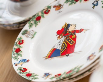 Alice In Wonderland Bone China Tea Plate - The Queen of Hearts
