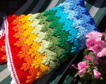 Crochet Baby Blanket Rainbow 22 х 26 Inches Rainbow Baby Gift Rainbow Blanket Crochet Baby Afghan Rainbow Baby Gift Baby shower gift cover