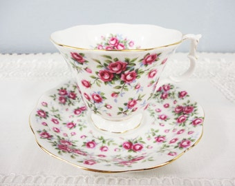 "Rare Royal Albert ""Chelsea"" Nell Gwynne Series Bone China Teacup and Saucer"