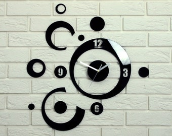 Wall Planet Modern clock large wall clock gift wall decor Unique wall clocks wall decal