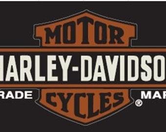 Harley Davidson Trademark Beach Towel 30x60