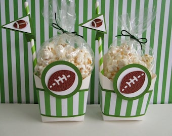 Football Favor Boxes, Favor Boxes, Sports Favor Boxes, Boy Favor Boxes, Girl Favor Boxes, Football Popcorn Bags, Football Party Favors.