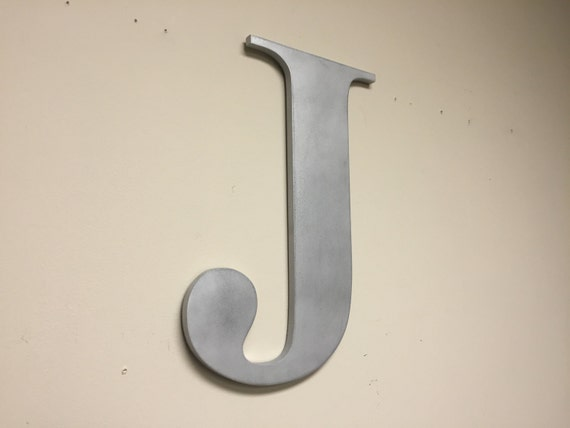 wood letter j silver large wall mounted letter home by With large wall mounted letters