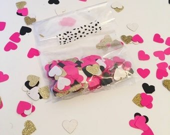 Heart Confetti | Bridal Shower Decorations | Bridal Shower Confetti | Bachelorette Party Decorations | Confetti