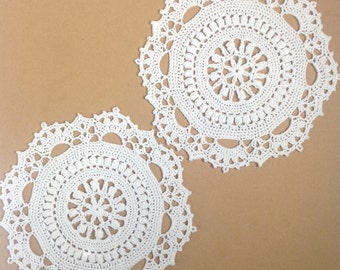 Small White Doilies - set of 2 (#01-06-4)