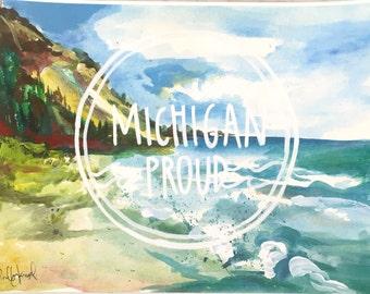 Michigan lakeshore print 9x12!