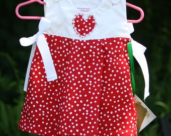 Red and White Sundress 6-9 months