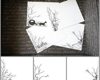 Jane Austen Northanger Abbey-Set of 8 Flat Notecards
