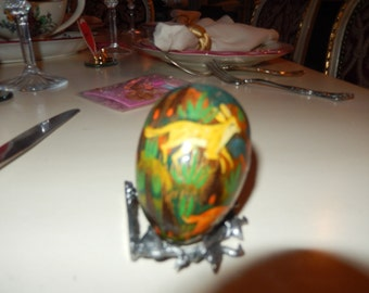 HAND PAINTED EGG with Animals
