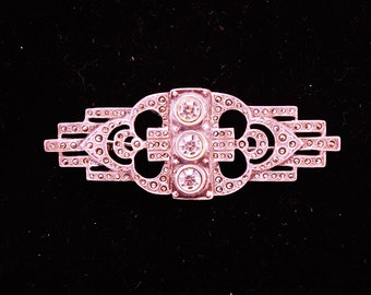 Vintage Deco Style Silver Brooch/Pin (Portugal)