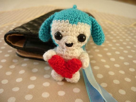 Amigurumi Penguin Cell Phone Strap : Amigurumi phone charm little bear gift for teens cute