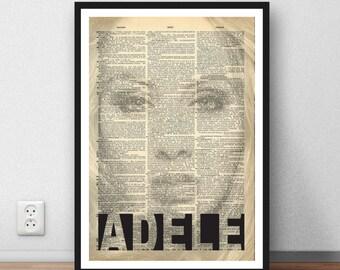Adele poster art print gift