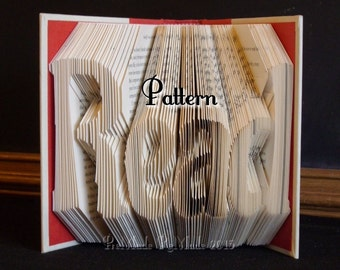 Read v7 - Folded Book Art Pattern - Instant Download!