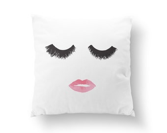 Fashion Pillow, Makeup Pillow, Home Decor, Cushion Cover, Throw Pillow, Bedroom Decor, Bed Pillow, Decorative Pillow, Fashion Decor, Makeup