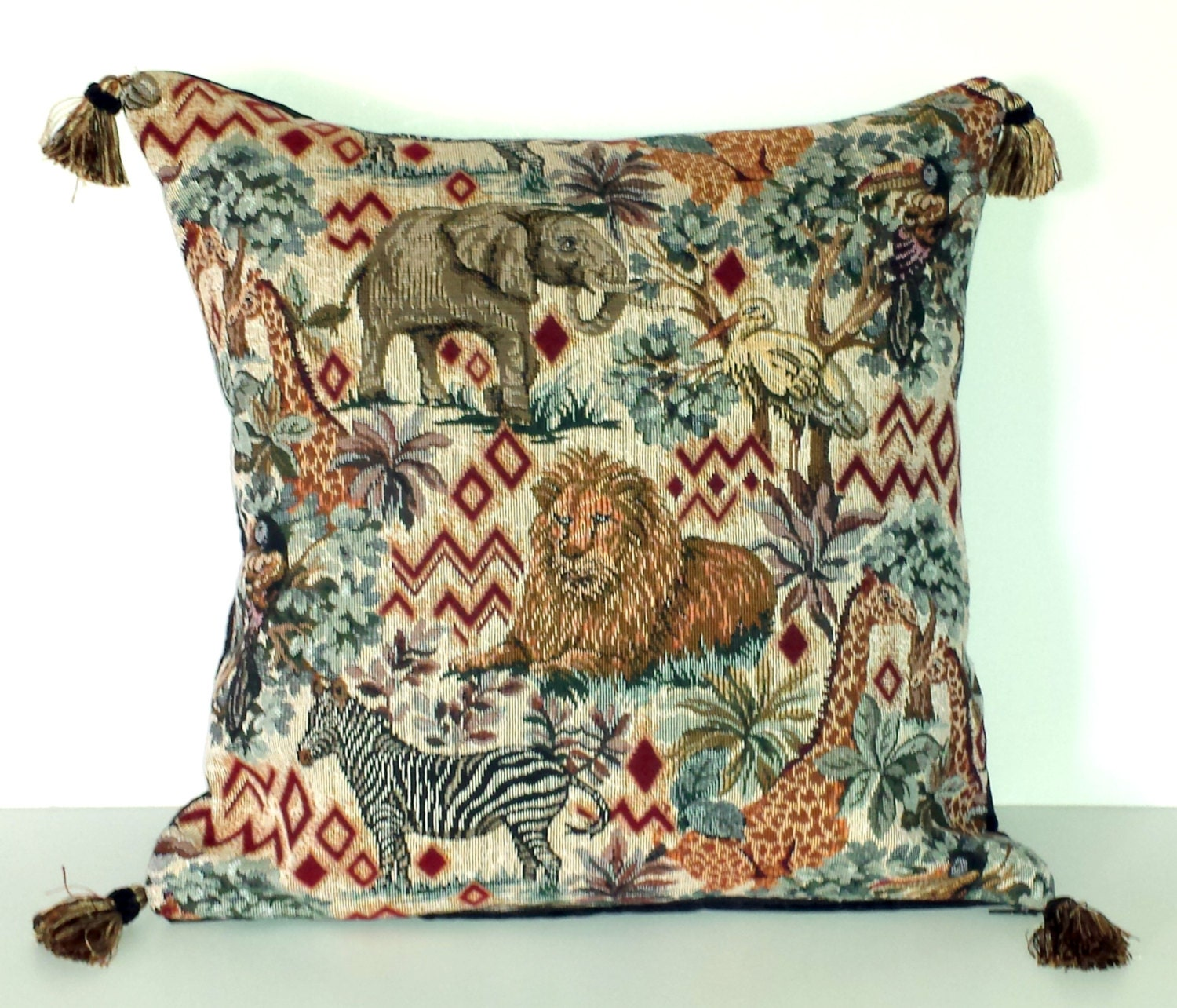 african animal decorative throw pillows in black and gold with. Black Bedroom Furniture Sets. Home Design Ideas