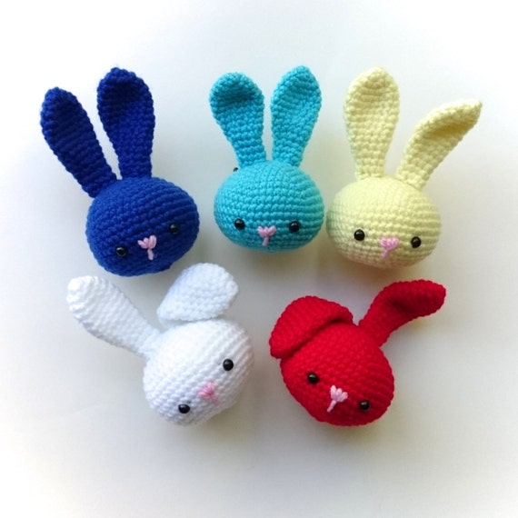 Crochet rabbit stress ball Hand therapy squeezable by ...
