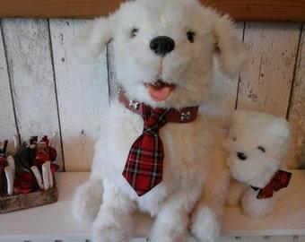 Slide onto collar dog tie