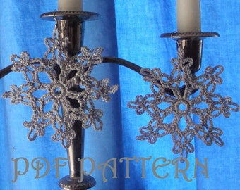 Silver Snowflake Earrings PDF Pattern