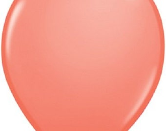 "Quantity 20 Coral Latex 11"" Balloon Party Decorating Supplies"