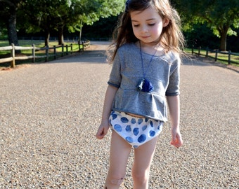 Blue Watercolor Dots Bloomers