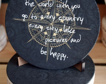 Travel The World With You Coaster