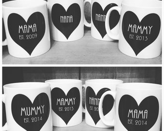Personalised Monochrome Mugs