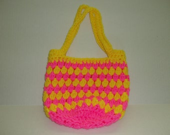 Hand Made Crochet Tote/Purse Bag