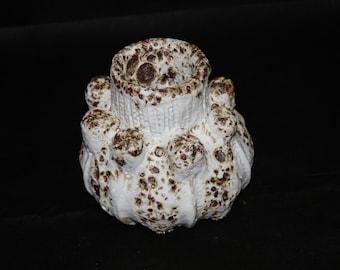 Ceramic sculptural vessel, volcanic glaze, home decor, gift