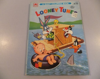 Rare Vintage Looney Tunes Giant Coloring Book