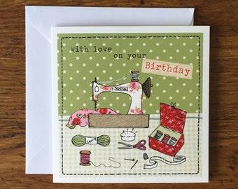 All in a stitch - Birthday Card