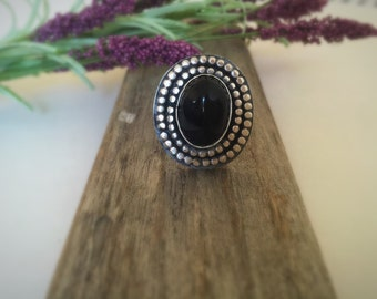 Sterling Silver and Onyx Ring