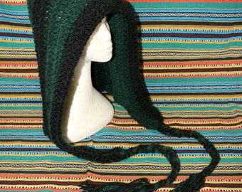 CROCHET HOOD, scood, snood, hooded scarf, knitted, GnarlyKnits, gift for her, hippy, dreadlock hood, dread hood