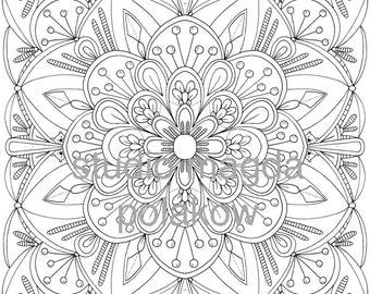 Adult Colouring Page - Floral
