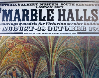 Marble Halls V&A Exhibition Poster 1973 - 509x759