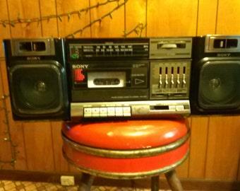 Sony CFS 1000 stereo boombox am fm cassette ghetto blaster vintage retro radio