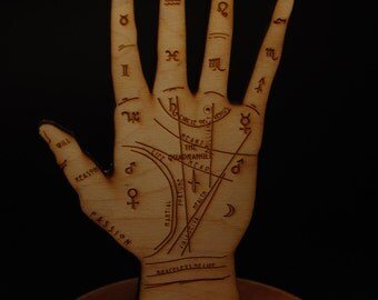 Unique Ring Holder - Wood Palmistry Hand