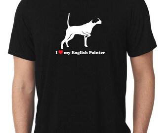 I Love My English Pointer T-Shirt v2 T1177